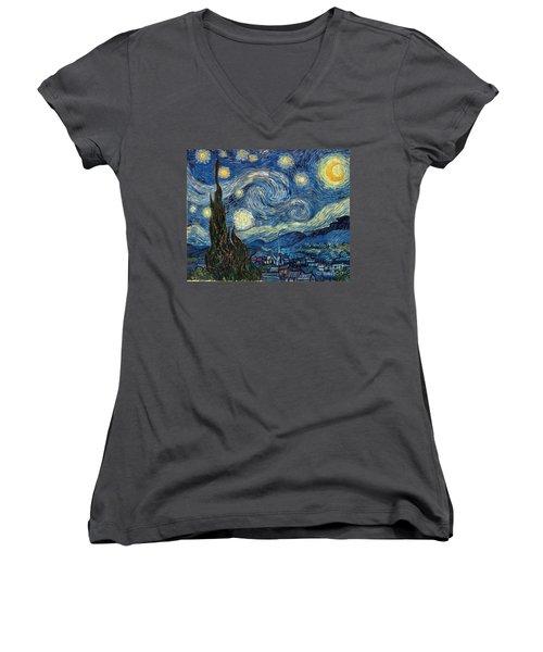 Van Gogh Starry Night Women's V-Neck