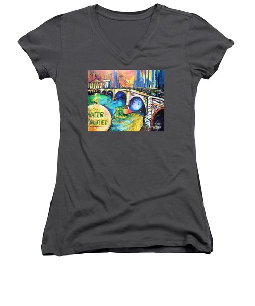 Van Gogh Today Women's V-Neck (Athletic Fit)