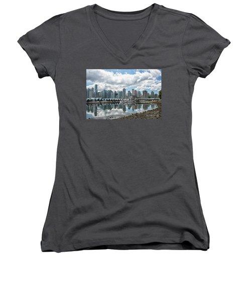 Vancouver Skyline Women's V-Neck T-Shirt