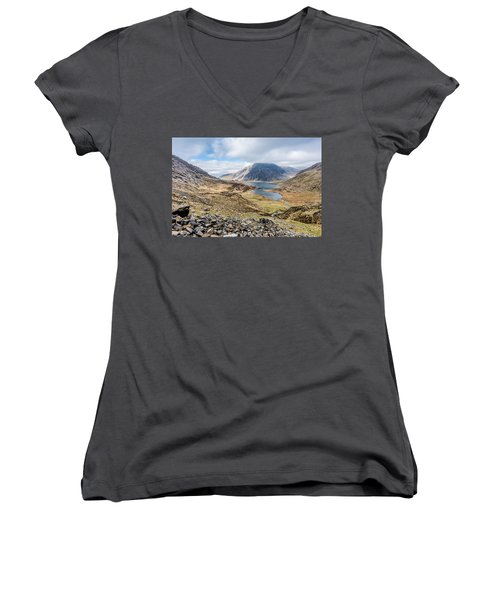 View From Glyder Fawr Women's V-Neck