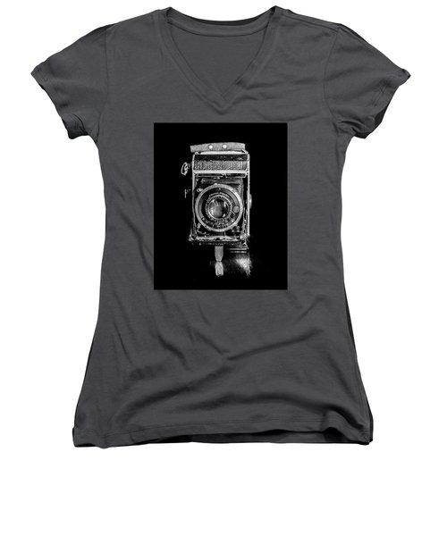 Vintage Camera Women's V-Neck