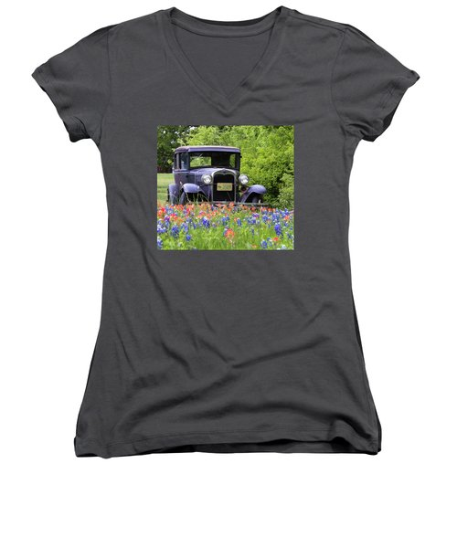 Vintage Ford Automobile Women's V-Neck (Athletic Fit)