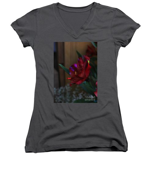 Women's V-Neck T-Shirt featuring the photograph Waiting For You by Marie Neder