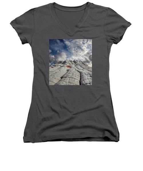 Women's V-Neck T-Shirt (Junior Cut) featuring the photograph Where Heaven Meets Earth 2 by Bob Christopher