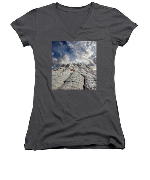 Where Heaven Meets Earth 2 Women's V-Neck T-Shirt (Junior Cut) by Bob Christopher