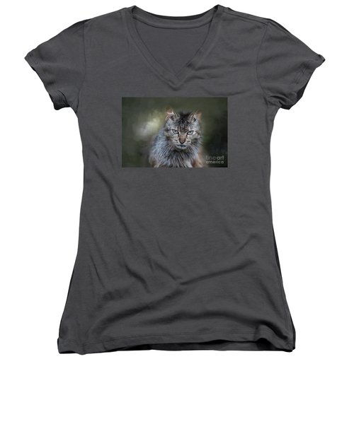 Wild Cat Portrait Women's V-Neck