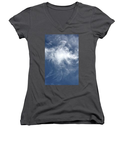 Women's V-Neck T-Shirt (Junior Cut) featuring the photograph Wing And A Prayer by Cathie Douglas