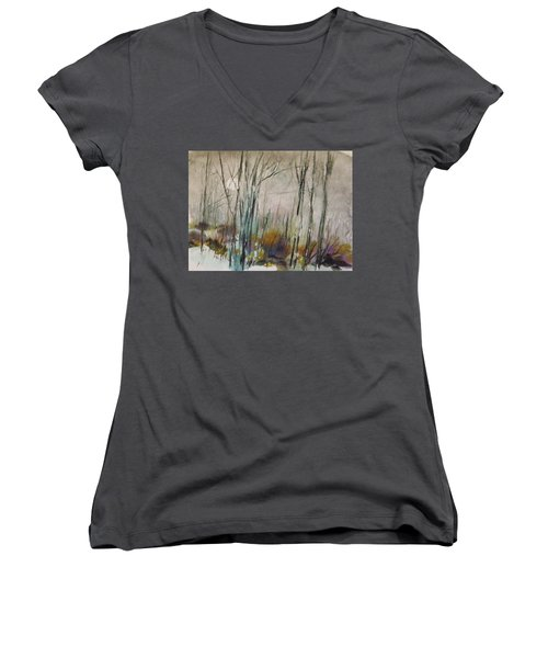 Winter Afternoon Women's V-Neck (Athletic Fit)