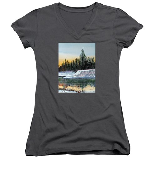 Winter Reflections Women's V-Neck T-Shirt