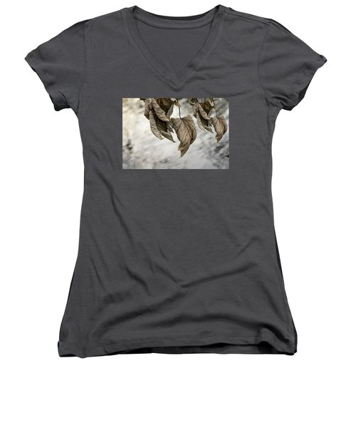 Withered Leaves Women's V-Neck T-Shirt
