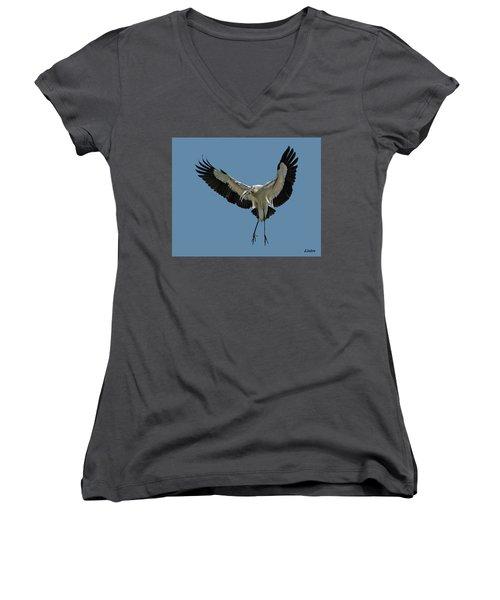 Wood Stork Women's V-Neck