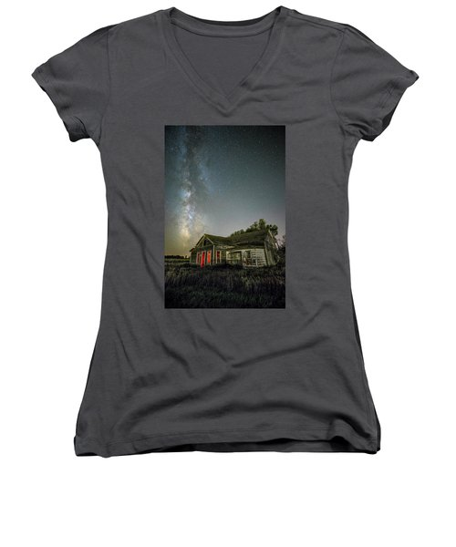 Women's V-Neck T-Shirt featuring the photograph Yale by Aaron J Groen