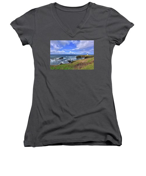 Yaquina Head Lighthouse Women's V-Neck