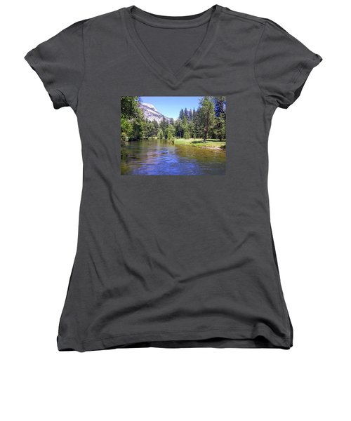 Yosemite Lazy River Women's V-Neck