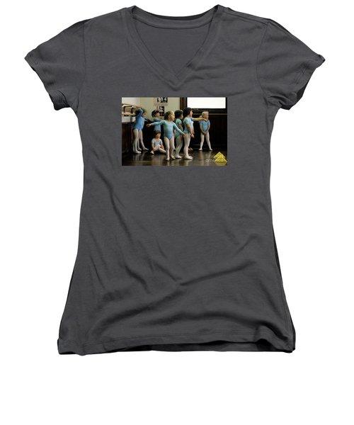 Young Ballet Dancers  Women's V-Neck T-Shirt