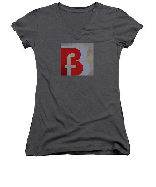 Your Name - B F Or F B Monogram Women's V-Neck