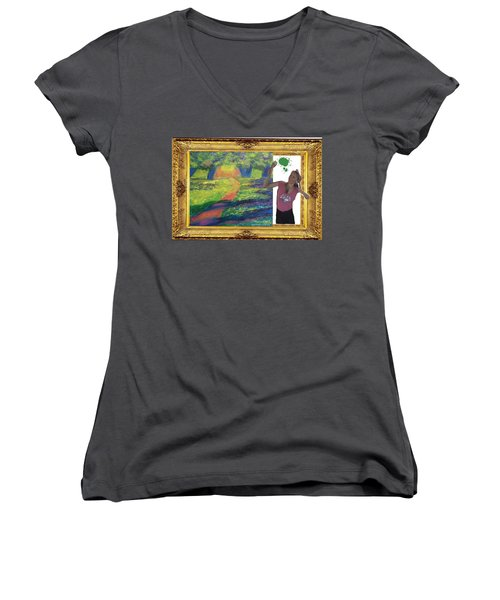 Cover Art For Gallery Women's V-Neck (Athletic Fit)