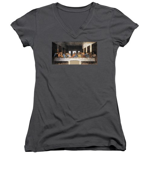 The Last Supper Women's V-Neck (Athletic Fit)