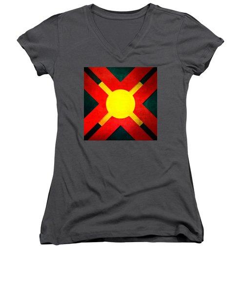 100b Women's V-Neck T-Shirt