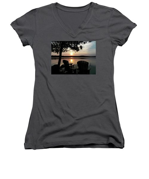 104_0550.jpg Women's V-Neck T-Shirt