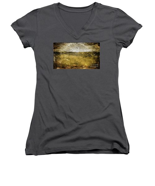 10b Abstract Expressionism Digital Painting Women's V-Neck