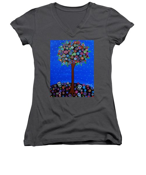Day Of The Dead Women's V-Neck