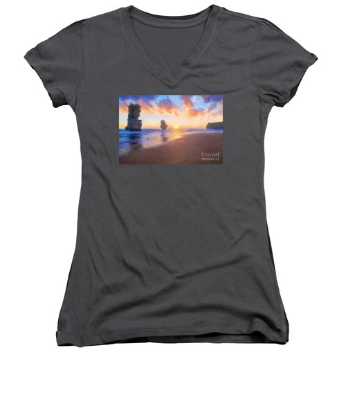 12 Apostles With Marshmallow Skies    Og Women's V-Neck
