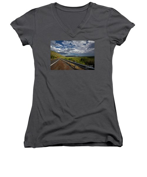Texas 66 Women's V-Neck (Athletic Fit)
