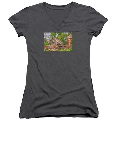 Barn Women's V-Neck T-Shirt (Junior Cut) by Dan Traun