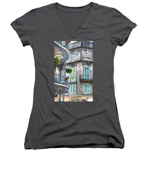 1358 French Quarter Balconies Women's V-Neck
