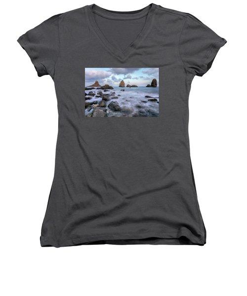 Aci Trezza - Sicily Women's V-Neck T-Shirt