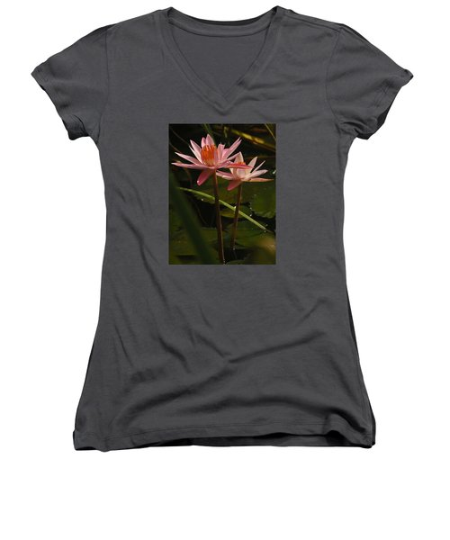 Water Lilly Women's V-Neck (Athletic Fit)