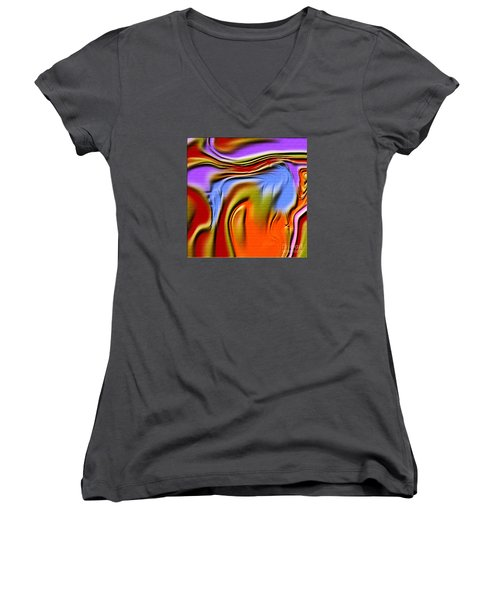 1765 Abstract Thought Women's V-Neck T-Shirt