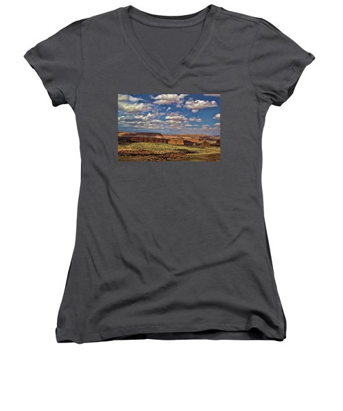 Capitol Reef National Park Catherdal Valley Women's V-Neck T-Shirt