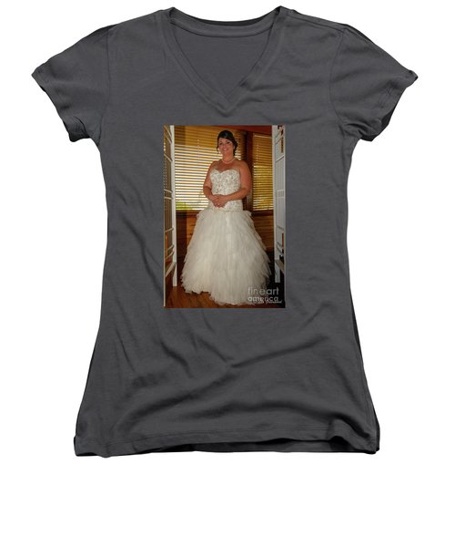 Faulkner Wedding Women's V-Neck (Athletic Fit)