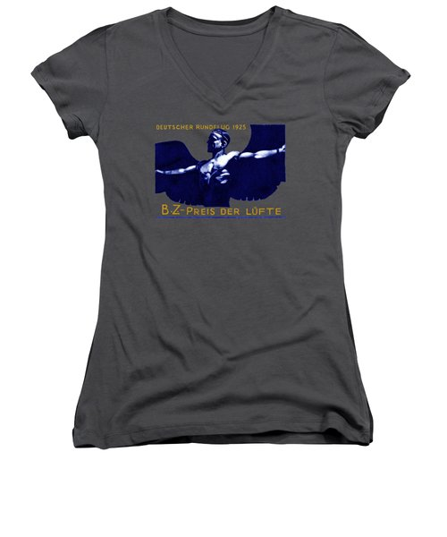 1925 German Air Show Women's V-Neck T-Shirt (Junior Cut) by Historic Image