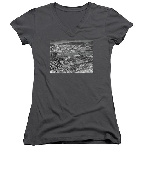 1930's Northern Manhattan Aerial  Women's V-Neck (Athletic Fit)