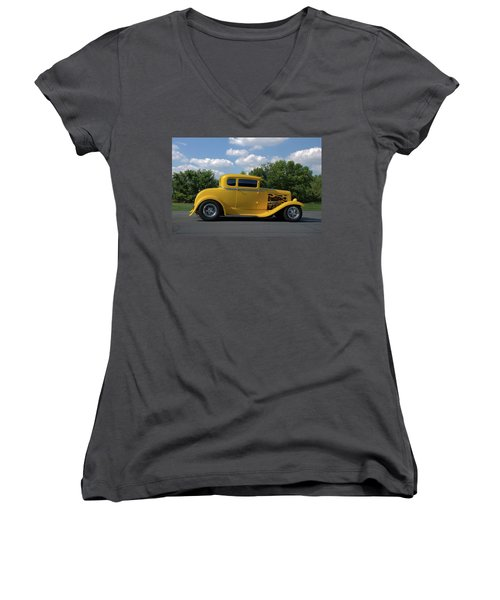 1931 Ford Coupe Hot Rod Women's V-Neck