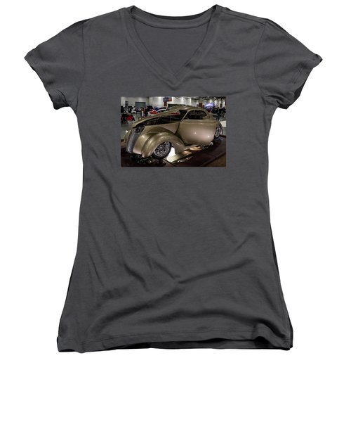 1937 Ford Coupe Women's V-Neck T-Shirt (Junior Cut) by Randy Scherkenbach