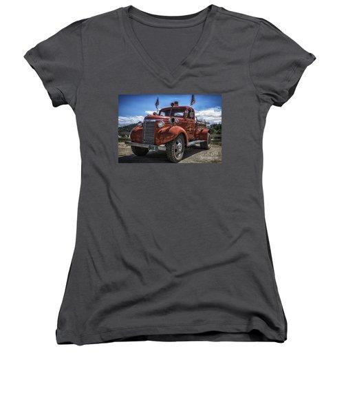 1940 Chevrolet Fire Truck  Women's V-Neck