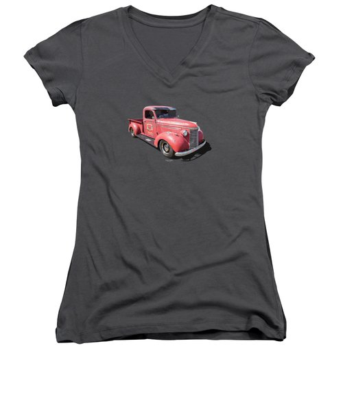 1940 Chevy Women's V-Neck (Athletic Fit)