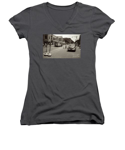 1940's Inwood Trolley Women's V-Neck