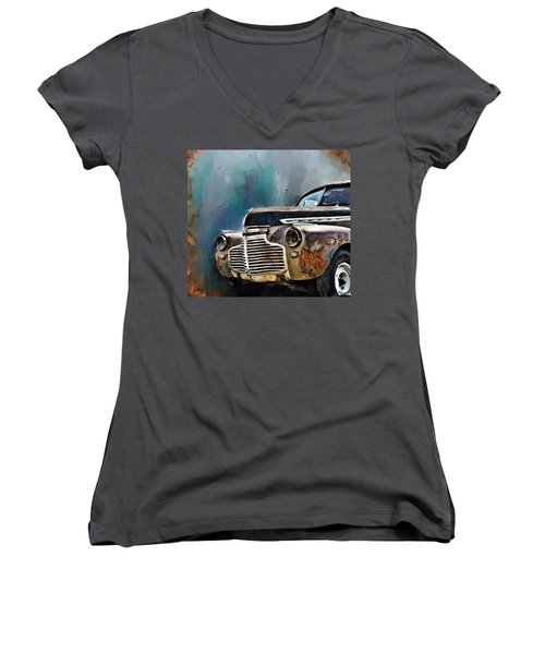 1941 Chevy Women's V-Neck (Athletic Fit)