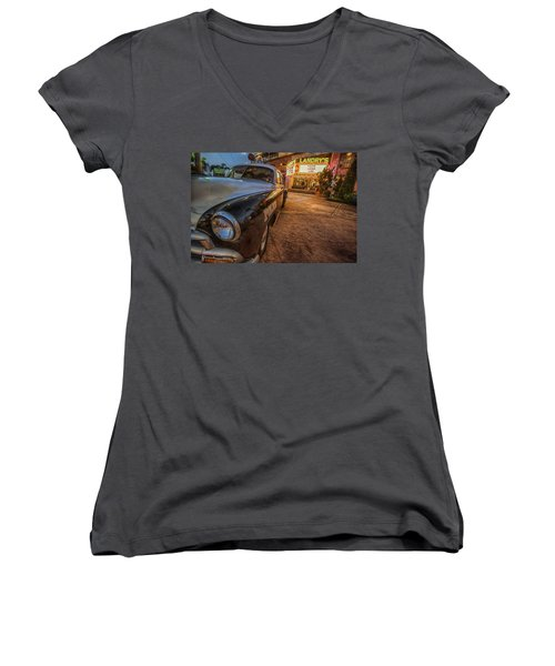 1952 Chevy  Women's V-Neck (Athletic Fit)