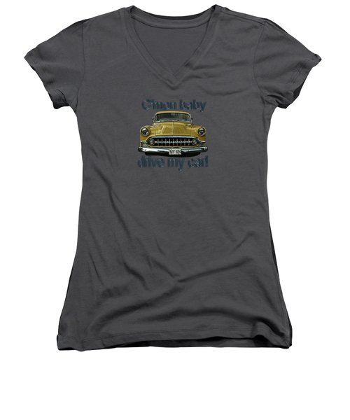 1953 Chevy Women's V-Neck