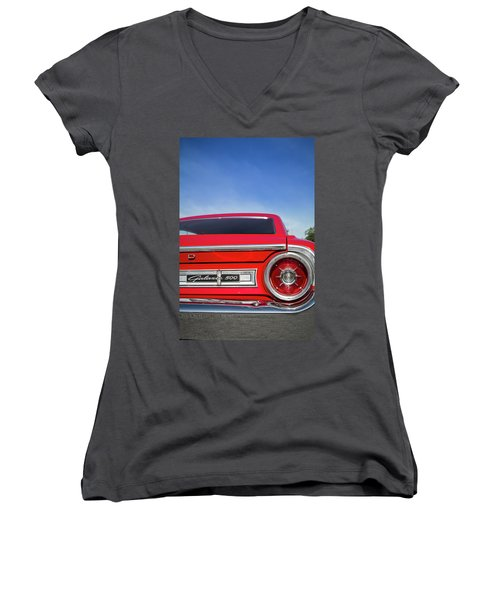 1964 Ford Galaxie 500 Taillight And Emblem Women's V-Neck