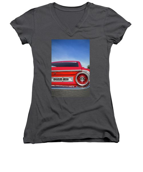 1964 Ford Galaxie 500 Taillight And Emblem Women's V-Neck T-Shirt