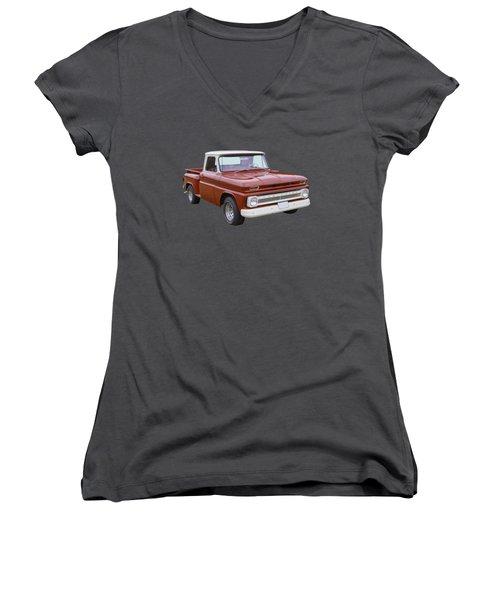 1965 Chevrolet Pickup Truck Women's V-Neck (Athletic Fit)
