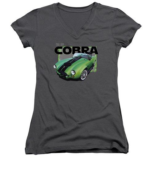 1965 Shelby Cobra Women's V-Neck T-Shirt