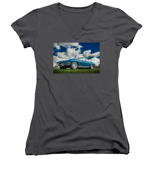 1966 Corvette Stingray  Women's V-Neck T-Shirt